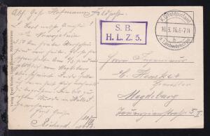 K.D. Feldpostamt d. Landwehrkorps b 10.3.16 + R2 S.B. H.L.Z. 5.