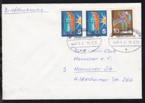 MÜNSTER-KÖLN/BONN FLUGHAFEN ÜBERLANDPOST a 440-5 2 11.2.71 auf Brief