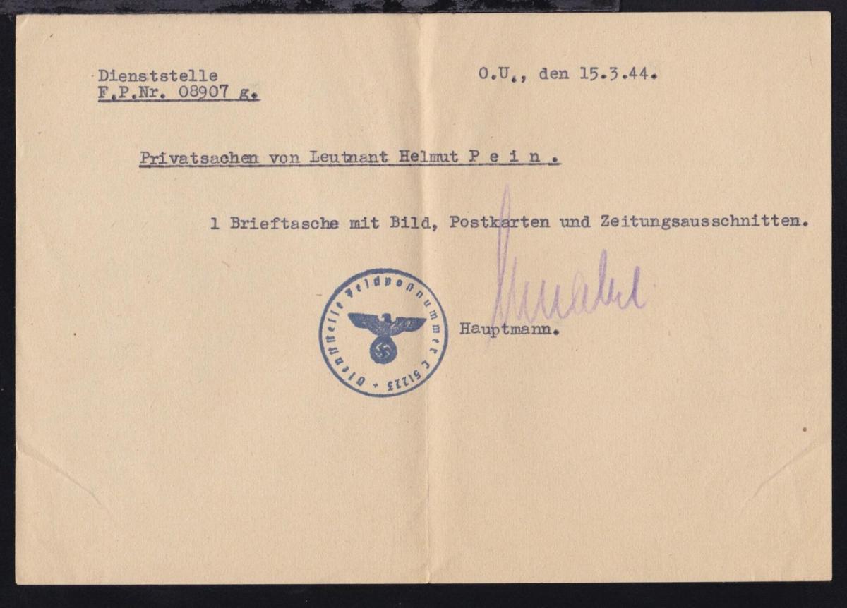 1944 K1 Dienststelle Feldpostnummer L 51223 (= Pionierkompanie 1