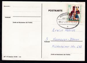 NÜRNBERG-HOF ÜBERLANDPOST a 0867-01/11 14.1.71 auf CAK