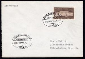 KARLSRUHE-FRANKFURT AM MAIN FLUGHAFEN ÜBERLANDPOST a 0750-01/02 28.7.70