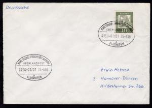 KARLSRUHE-FRANKFURT AM MAIN FLUGHAFEN ÜBERLANDPOST a 0750-01/01 25.6.65