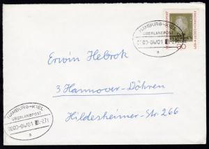 HAMBURG-KIEL ÜBERLANDPOST a 0200-04/01 9.2.71 auf Brief