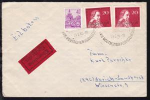 HANNOVER-BREMEN BAHNPOST ZUG //?77 30.5.62 rs auf Eilbrief aus Berlin-Adlershof