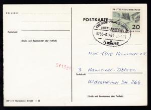 KARLSRUHE-FRANKFURT AM MAIN FLUGHAFEN ÜBERLANDPOST a 0750-01/01 12.1.71 auf CAK