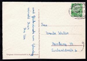HANNOVER-SOLTAU BAHNPOST c ZUG 1489 16.7 (etwas über Rand) auf Geburtstagskarte
