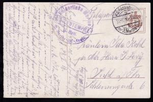K.D. Feldpostexp. der 2. Marine-Div. A 31.5.16 + Briefstempel
