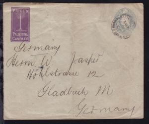 König Eduard VII 2½ P. Privatumschlag (?) ab Battersea SEP 24 07 nach