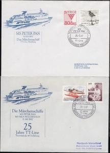 DSP TRAVEMÜNDE-TRELLEBORG MS PETER PAN TT-Line 25.-2.87 auf Sonder-Umschlag