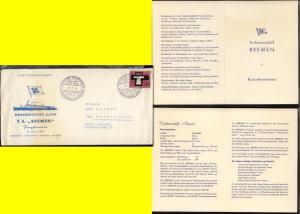 DSP BREMEN-NEW YORK TS BREMEN NDL JUNGFERNREISE 9.-28.7.1959 28.7.59