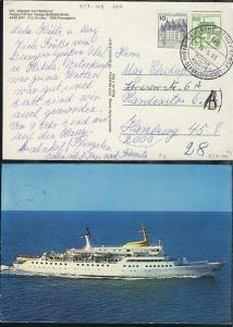 DSP HADAG-SEEBÄDERDIENST MS WAPPEN VON HAMBURG 15.5.83 auf CAK des Schiffes,