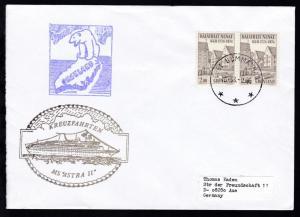Ost. Uummanaq 12.08.1996 + Cachet MS Astra II auf Brief