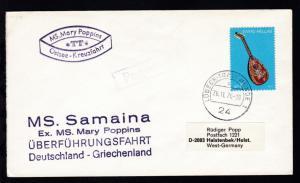 OSt. Lübeck-Travemünde 26.11.76 + Cachet MS Mary Poppins + L4 MS. Samaina