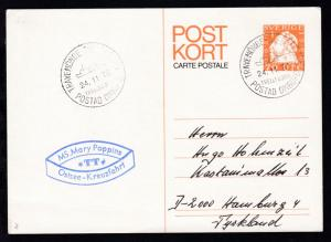 TRAVEMÜNDE-TRELLEBORG TRELLEBORG POSTAD OMBORD 24.11.76 + Cachet MS Mary Poppins