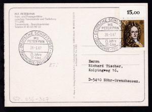 DEUTSCHE SCHIFFSPOST MS PETER PAN 25 Jahre TT-Line TRAVEMÜNDE-TRELLEBORG 28.3.87