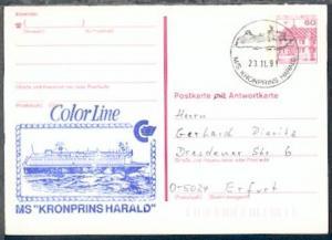 MS KRONPRINS HARALD 23.11.91 + Cachet auf BRD-GSK
