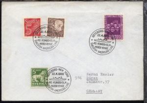 GÖTEBORG-NEW YORK SAL MS KUNGSHOLM MAIDEN VOYAGE 22.4.1966 auf Bf.