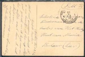POSTES MILITAIRES BELGIQUE 1 29.III.26 auf CAK (Aachen) aus Aachen nach Belgien