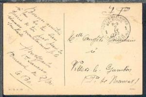 POSTES MILITAIRES BELGIQUE 1 2.IV.22 auf CAK (Aachen) aus Aachen nach Belgien,