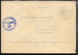 Tarn-Stpl. 25.3.40 + BfSt. M 39987 (11. U-Jagd-Flottille UJ 1106) auf Dienst-Bf.