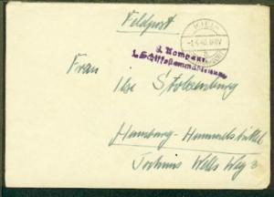OSt. Kiel-Friedrichsort 1.4.40 + L2 3. Kompanie 1. Schiffsstammabteilung auf FP-