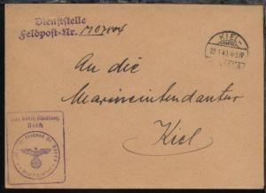 OSt. Kiel 22.1.40 + Dienststellen-L2 + BfSt. M 07804 (5. Räumboots-Flottille)