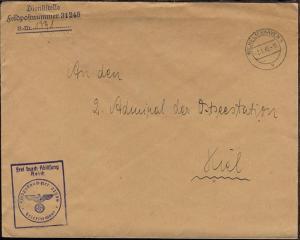 OSt. Wilhelmshaven 2.1.40 + Dienststellen-L3 + BfSt. 31248 (Versuchsboot Strahl)