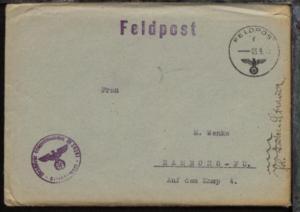 FP f 03.9.43 + BfSt. M 39261 (12. U-Jagd.-Flottille UJ 1215) auf FP-Bf.
