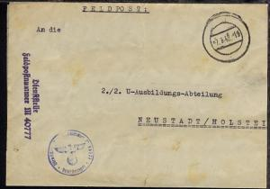 Tarn-Stpl. 7.3.42 + Dienststellen-L2 + BfSt. M 40777 (26. U-Flottille Pillau)
