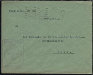 Maschinen-Halb-Stpl. 30.11.39 + stummer BfSt. auf Dienst -Bf.,