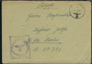 FP d 27.12.41 + BfSt. M 20869 (3. Sperrbrecher-Flottille Sperrbrecher 13)