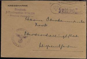 Mschinen-Halb-Stpl. 22.2.44 + Dienststellen-L3 + BfSt. M 54176