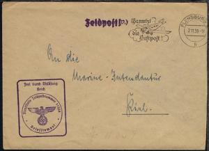 Maschinen-Stpl. Flensburg 7.11.39 + BfSt. 11554 (19. Minensuch-Flottille)
