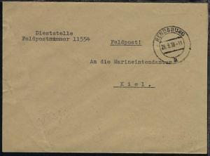 OSt. Rendsburg 26.9.39 auf Dienst-Bf., Abs.-Ang. 11554 (19. Minensuch-Flottille)