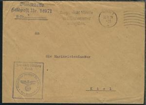 Maschinen-Stpl. Kiel 26.9.39 + Dienststellen-L3 + BfSt.  14971