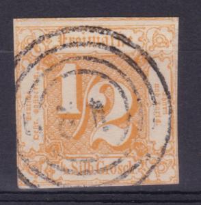 Ziffer ½ Gr. mit Nummernstempel 42 (= Morschen)