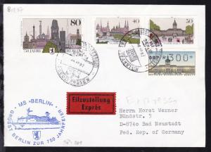 DEUTSCHE SCHIFFSPOST MS BERLIN REEDEREI DEILMANN a KREUZFAHRTEN 08.10.87 +