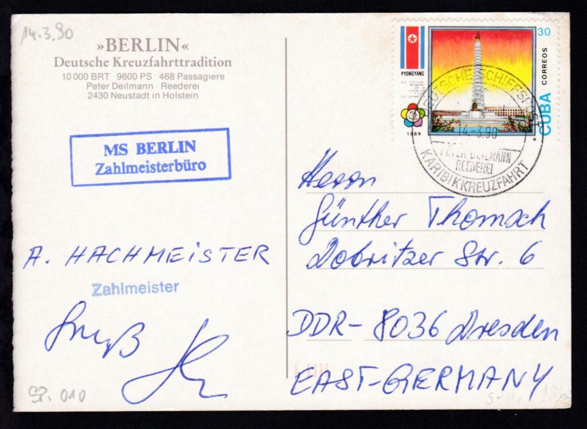 DEUTSCHE SCHIFFSPOST MS BERLIN PETER DEILMANN REEDEREI KARIBIKKREUZFAHRT 0