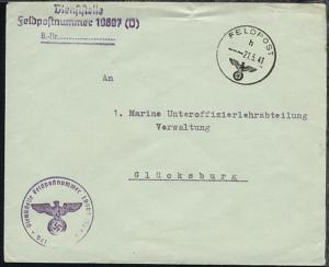 FP h 21.4.41 + Dienststellen-L3 + BfSt. 19697 (Kommandant im Abschnitt