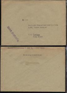 unfrankierter Bf. an Deutsche Minenräumdienstleitung
