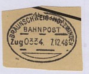 BRAUNSCHWEIG-HOLZMINDEN Zug 0334 7.12.48 auf Bf.-Stück