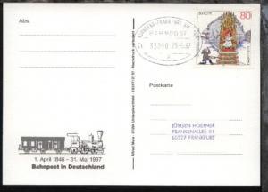 NÜRNBERG-FRANKFURT AM MAIN p ZUG 39050 29.5.97 auf AK