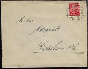 KÖLN-FRANKFURT (MAIN) Zug 1010 19.3.35 auf Bf.  Einriss