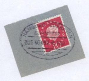 HAMBURG-CUXHAVEN c ZUG 03487 6.4.60 auf Bf.-Stück