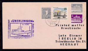 OSt. Konstanz 3.8.67 + Cachet MS