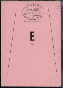 HAGEN-KASSEL g ZUG 14141 10.6.86 auf Beutelfahne