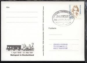 HAMBURG-FRANKFURT/MAIN m ZUG 039074 29.5.97 auf AK