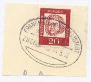 FRANKFURT (MAIN)-HELMSTEDT ZUG 80609 14.5.62 auf Bf.-Stück