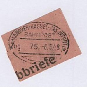 HANNOVER-KASSEL-FRANKFURT (M) Zug 75 6.5.48 auf Bf.-Stück