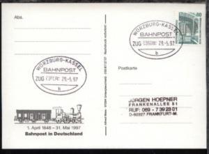 WÜRZBURG-KASSEL b ZUG 039080 29.5.97 auf AK